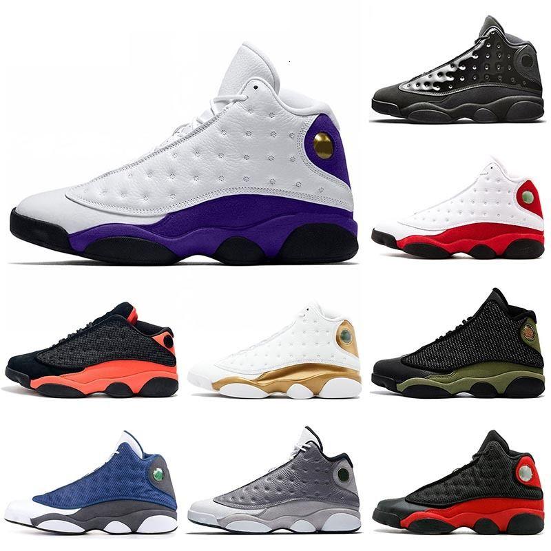 Jumpman Лейкерс суд Фиолетовый 13 Мужская обувь Баскетбол 13s XIII Flint Атмосфера Серый колпачок и платье DMP Chicago Black Инфракрасная Мужчины Трейнеры