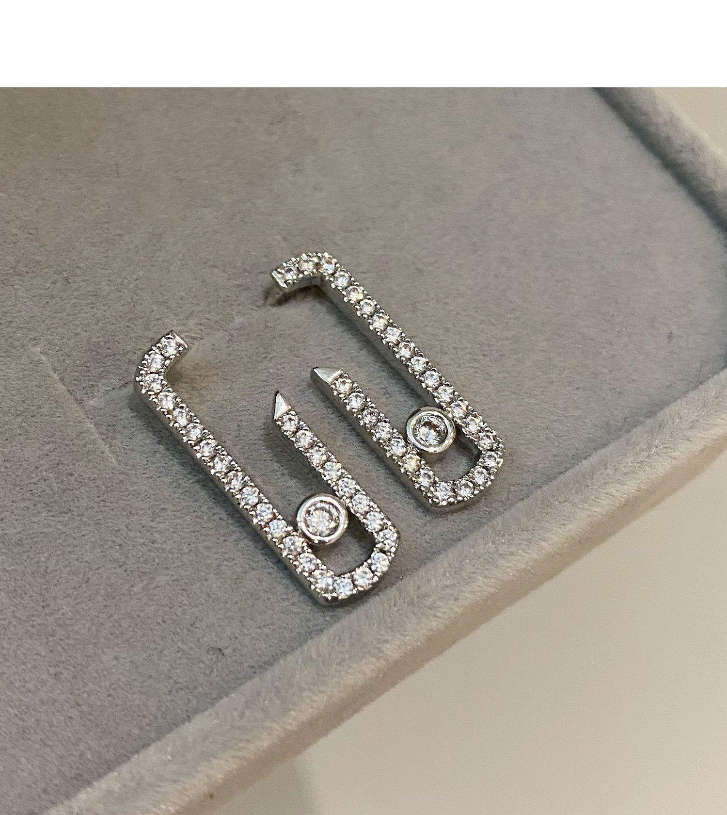 Boucle d'oreille originale design graphique d'oreilles élégantes et simples boucles d'oreilles déplacez la toxicomanie déplacer boucle goutte Valentin boucle d'oreille CX200623