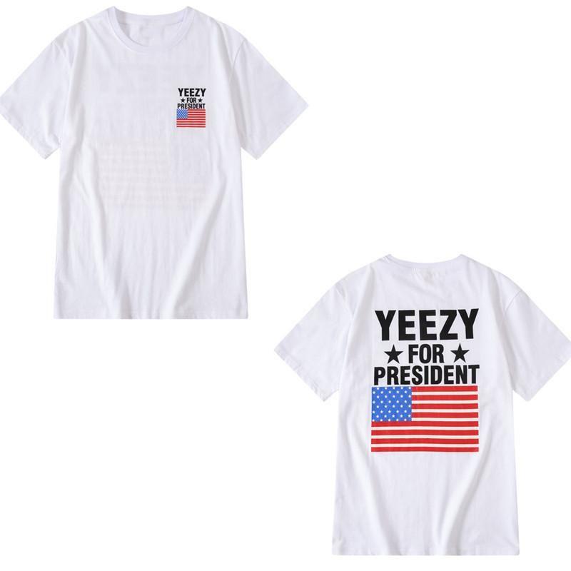 SS Kanye camisa dos homens t Summer Fashion Top Senhoras de manga curta Padrão Marca Roupa Carta impressão de alta qualidade solto Hip Hop