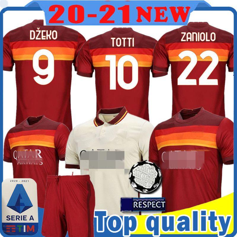 Roma barata camiseta de fútbol TOTTI DZEKO ZANIOLO camiseta de fútbol ROSS DE Florenzi Kolarov Strootman Perotti PELLEGRINI Maillots de foot 560