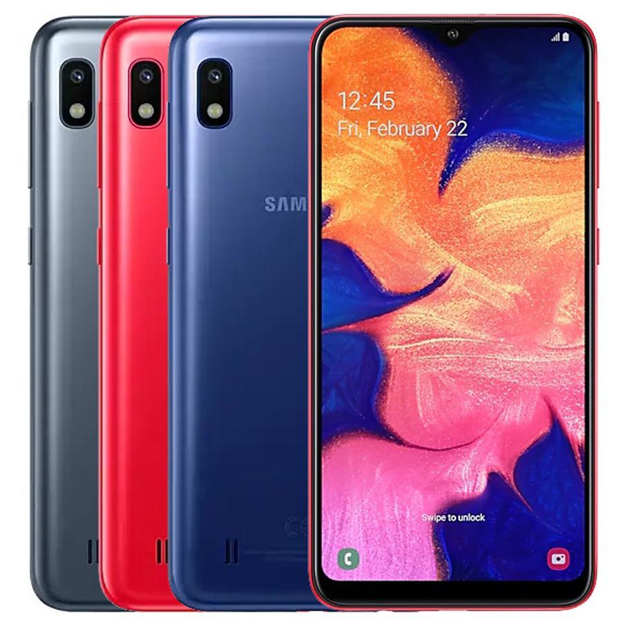 Recuperado Original Samsung Galaxy A10 A105F / DS 6.2 polegadas Dual SIM Octa Núcleo 2GB RAM 32GB ROM Desbloqueado inteligente Android Phone