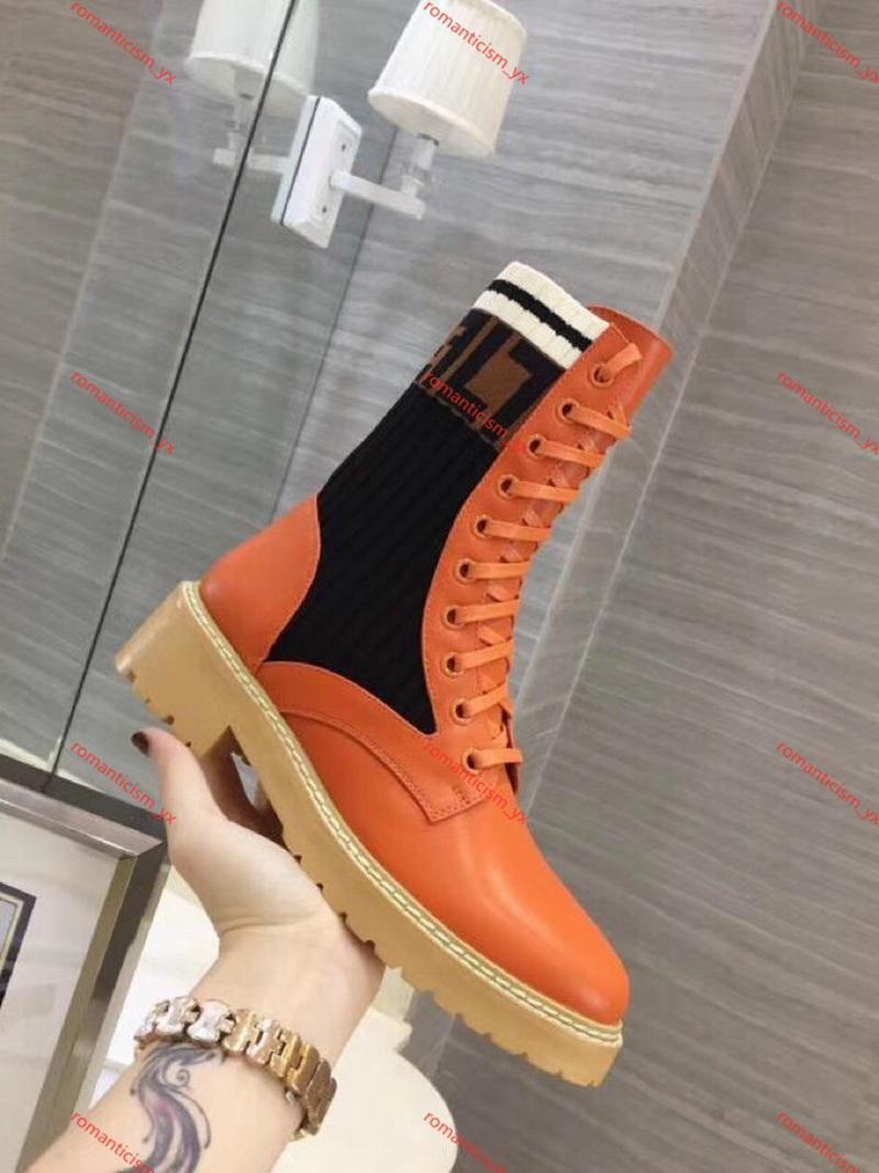 2020 Marca superior de la manera diseño de lujo de las mujeres calza tamaño de Diseño Mujer Botas Tobillo Fiesta Marca botines famoso botas de invierno botas al aire libre 35-40