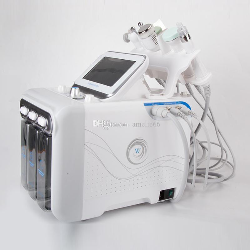 Novo 6 In1 Tratamento Facial H2O2 Hydra Aqua Pele de Água Peel Dermaabrasão Limpeza Profunda RF Ultrasonic Bio Removal Máquina de Beleza