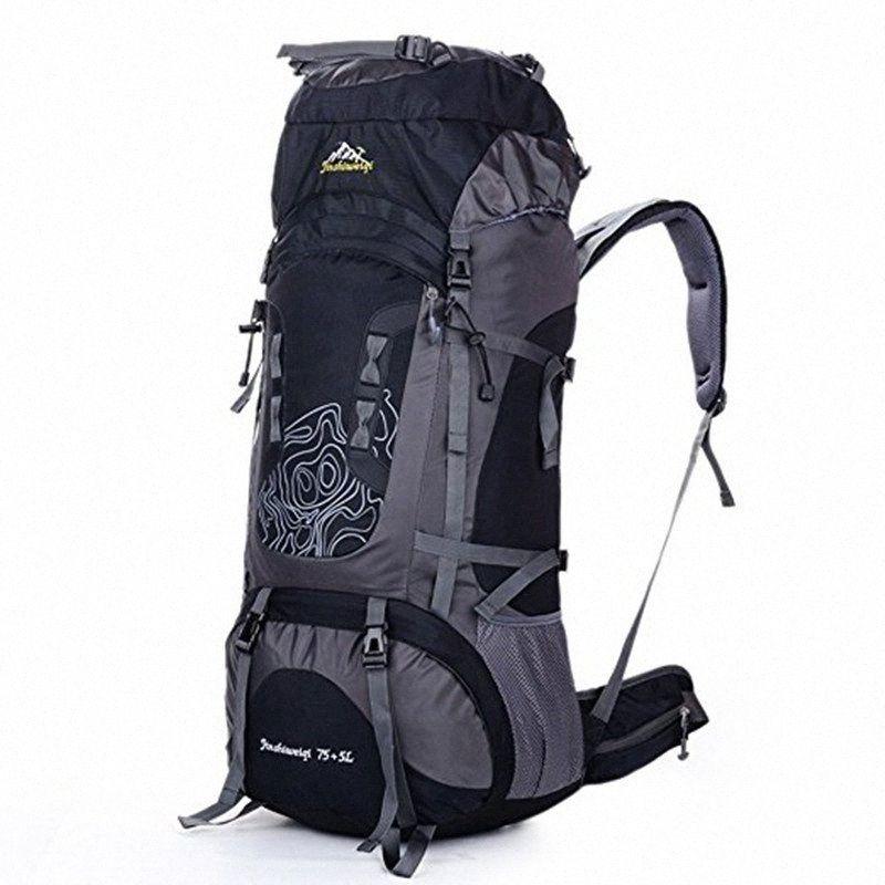 75 + Escalada 5L mujeres de los hombres al aire libre Mochila mochilas mochilas de senderismo unisex viaje de gran capacidad camping climbing Bolsa Deportes I8ZU #