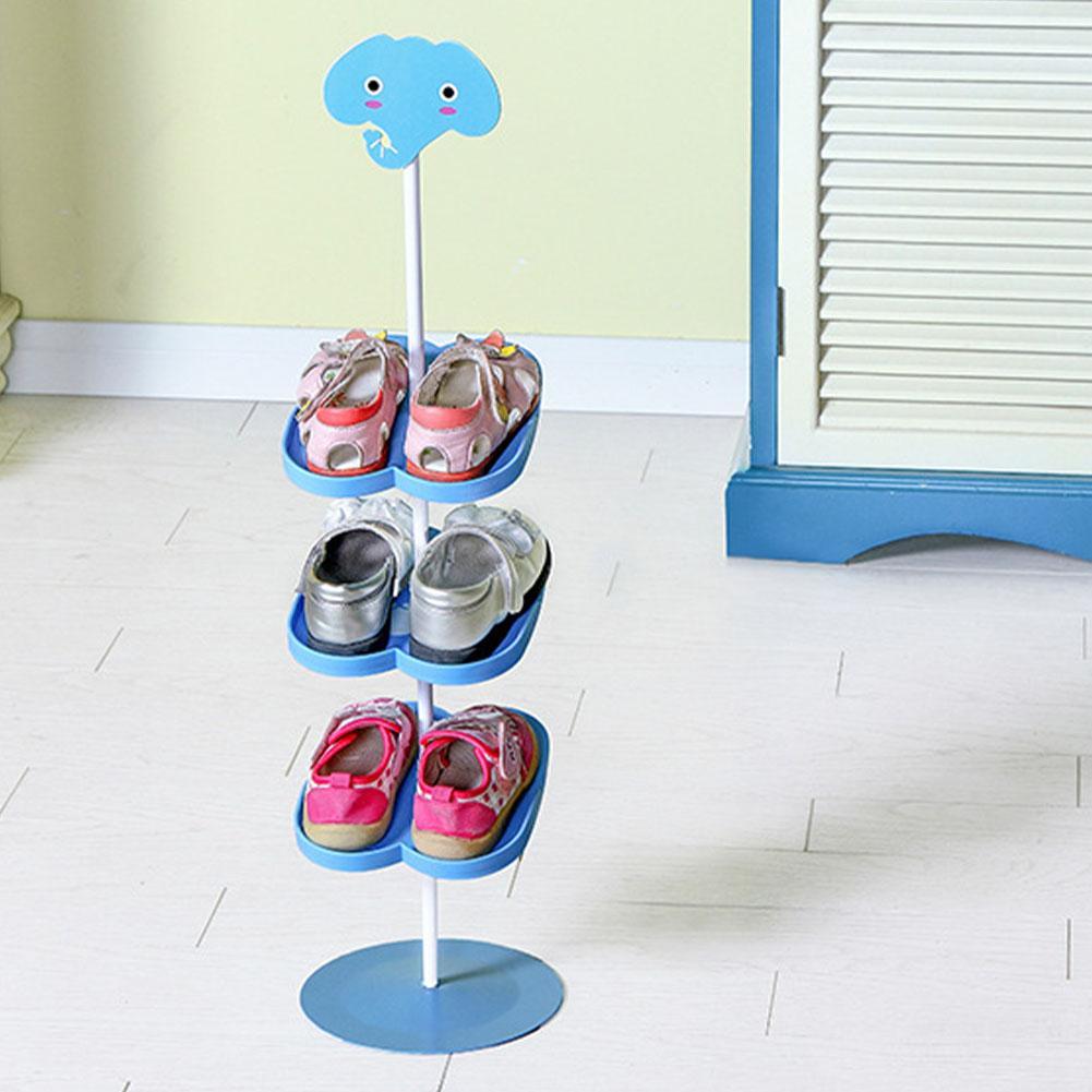 Kid Дети стали стойки обуви повернутого мультфильм животных Постоянная Главная Съемные