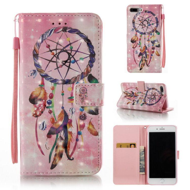 Модельер красочная печать мечта ловец кожаный бумажник чехол для Iphone х хт хз макс 6 7 8 плюс s9 s10 примечание 9