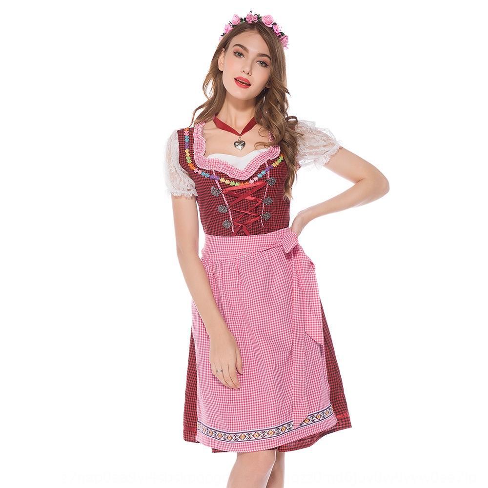 1BaJa Bavarian festival coswear cerveja tradicional empregada doméstica nacional traje nacional empregada traje alemão Munich vestido étnico