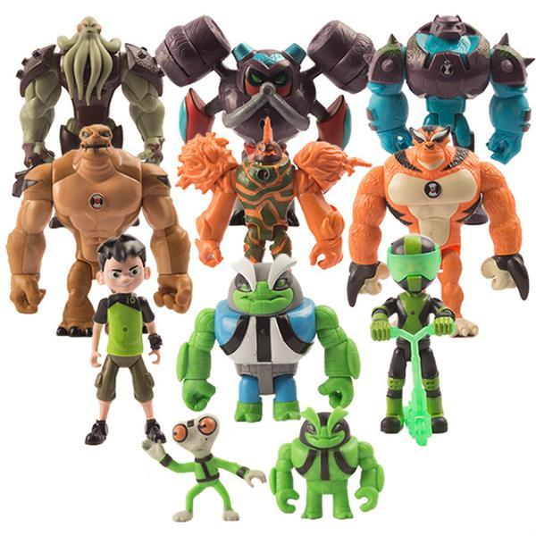 11 cartoon toys, Ben 10 Protector Of Earth anime character model, are provided with a toy doll for children's gift decoration