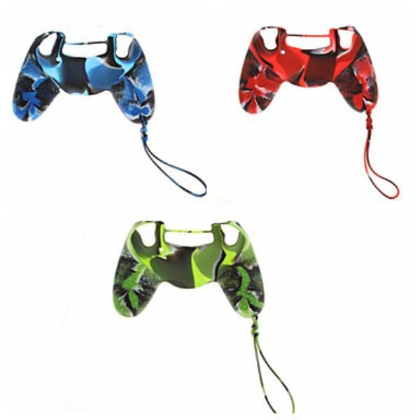 100pcs copertura di caso per Sony PS4 Gamepad camuffamento della gomma di silicone impugnatura morbida pelle 3 colori