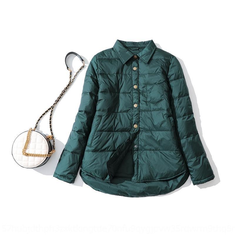 coat 7stUu vMQVq Inverno jaqueta casaco novo estilo artístico de outono elegante e fina camisa de inverno das mulheres para baixo curta jaqueta maré baixa