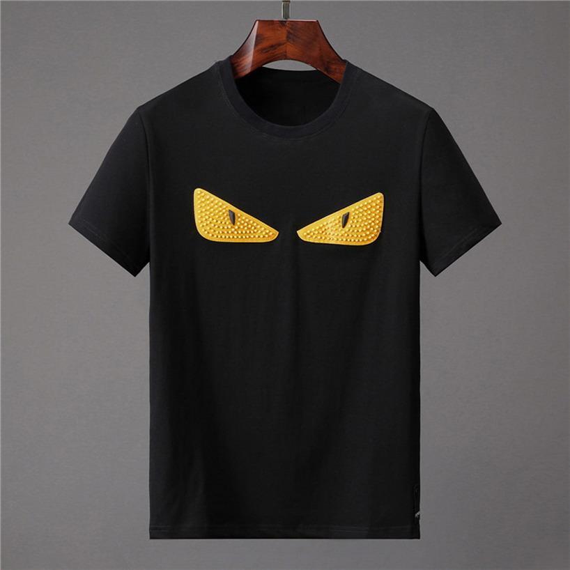 Homens New Verão camisetas manga curta engraçado Anime Letter Impressão Mens t-shirt Moda Masculina T Camisa Casual