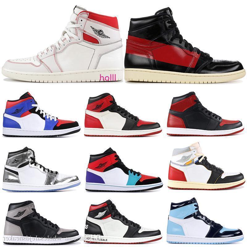 Zapatos para hombre de baloncesto de alta costura 1s 1 N ° L S Phantom Unión Unc Prohibido dedo del pie Bred homenaje a las mujeres Inicio entrenador deportivo zapatillas de deporte 5.5-13