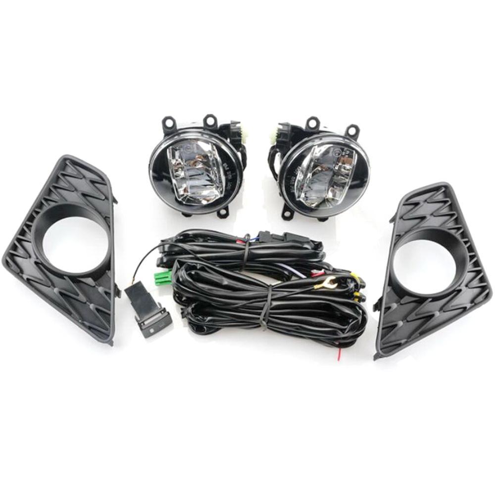 Lexus GS F Sport 2013-2016 LED Sis Lambası + Çerçeve + Harness + Anahtarı için Işık Davasını Koşu Temmuz Kral Araba 10W LED Sis Lambası Montaj Gündüz