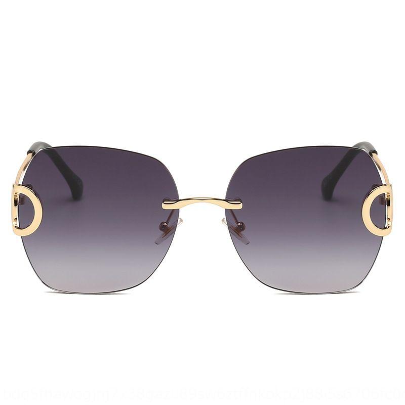 2020 New Square getrimmt rahmenlos Sonne Frauen exquisite Beine ins Sonnenbrille personifizierte Sonnenbrille 50567