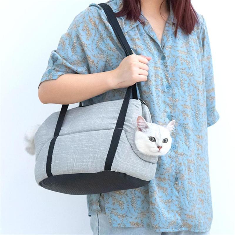 Pet Carrier Sac Puppy Kitten Voyage extérieur Porter Sac fourre-tout confortable Respirant Sacs à bandoulière portable Cat Dog simple