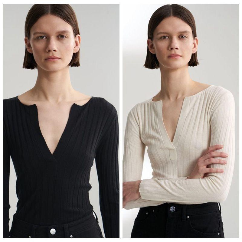 b7fUd Nordic тотем свитер пуловер * 2020 Весна элегантный тонкий пуловер свитер дна рубашки полуоткрытый воротник тонкий трикотажный для женщин