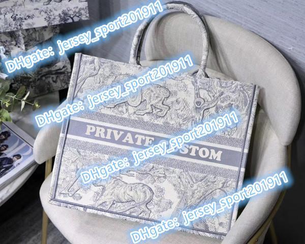 Nom personnalisable top 5A qualité classique coloré sac livre Totes sac à main sac brodé de grande capacité sacs en toile Voyage