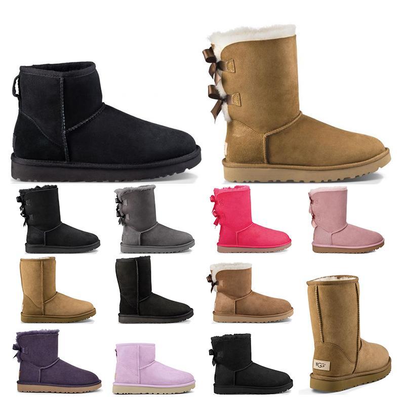 2021 새로 Womens 신발 고전적인 스노우 부츠 겨울 밤나무 핑크 여성 신발 크기 36-41 패션 야외 겨울에 짧은 짧은 활 짧은 활 짧은 활 짧은 활