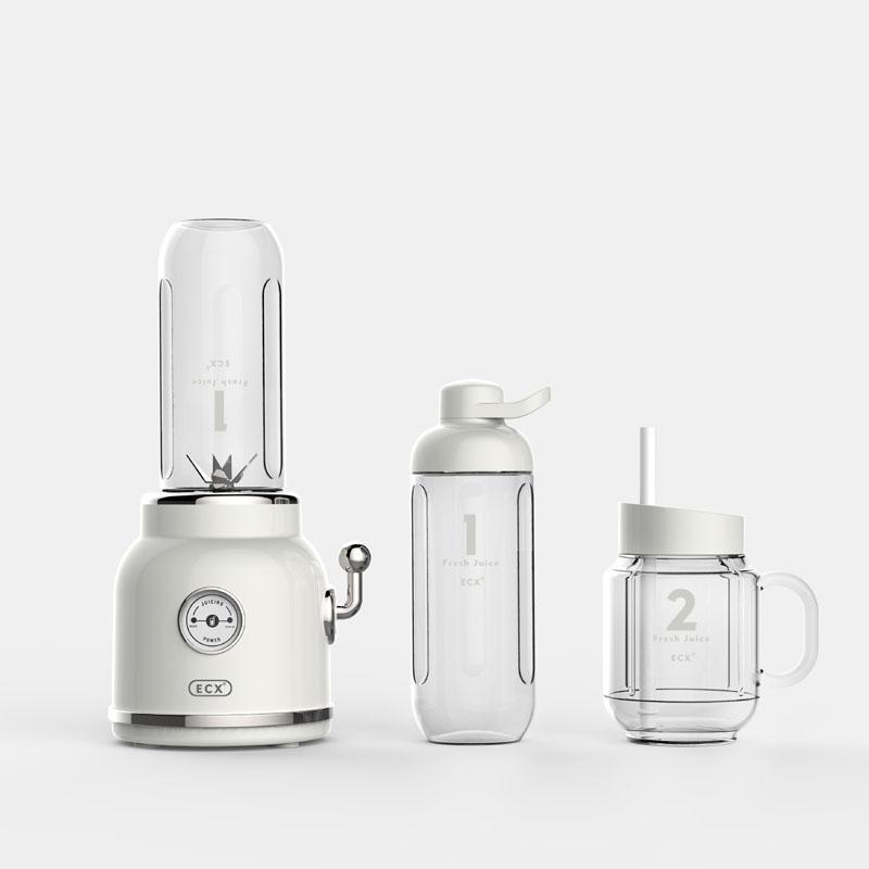 Inicio Exprimidor eléctrico multifuncional Blender Smoothie Batido de bebé Retro Fruit Juice fabricante de la máquina del mezclador exprimidor de naranja