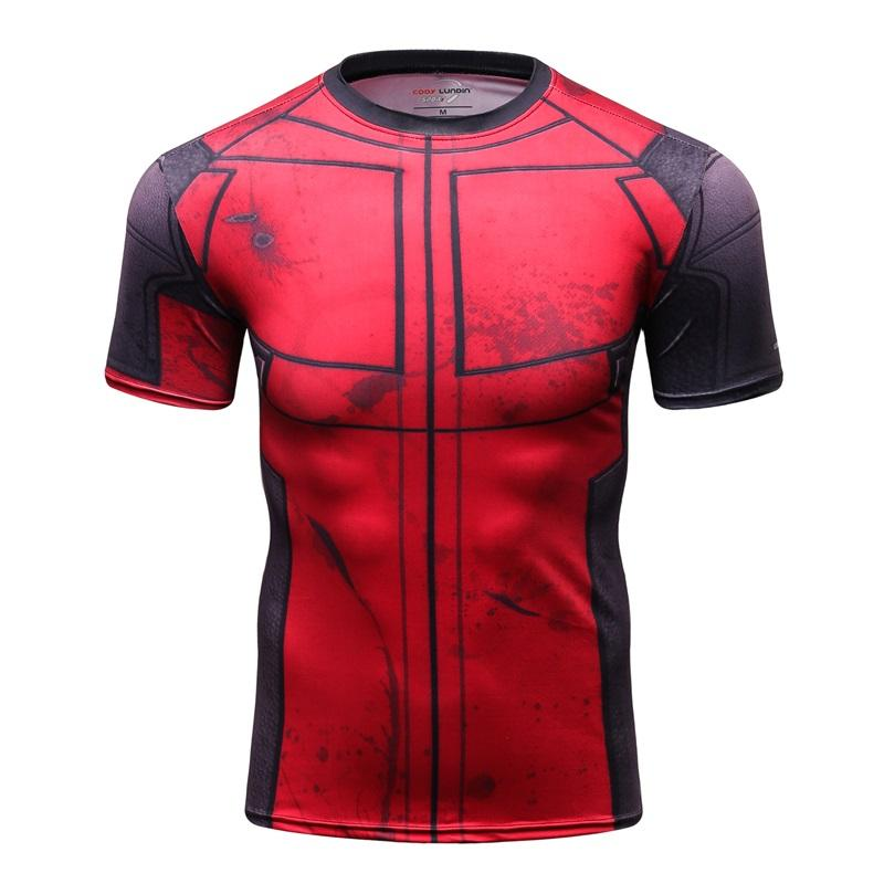 Marvel Character Costume T Shirt Men Women Sportswear Compression Shirt Does Not Fade Bright 3d Print Deadpool