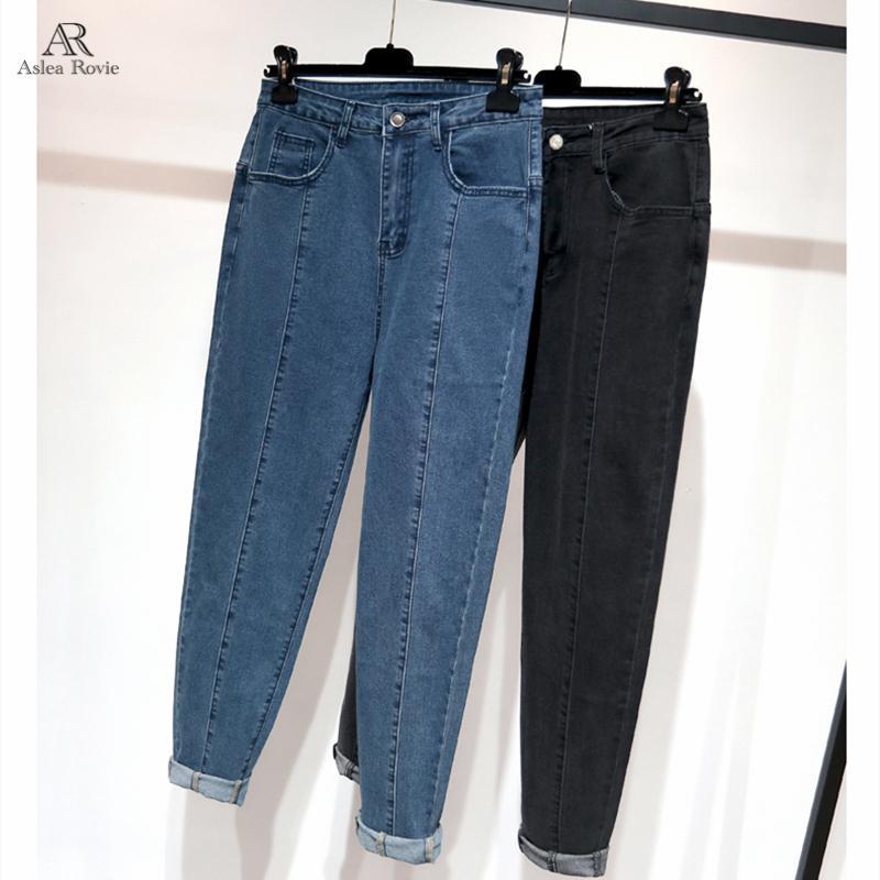 Jeans Femme Taille haute Taille Plus Femme Cadrage Skinny Retro Denim Blue Fashion sarouel LJ200811