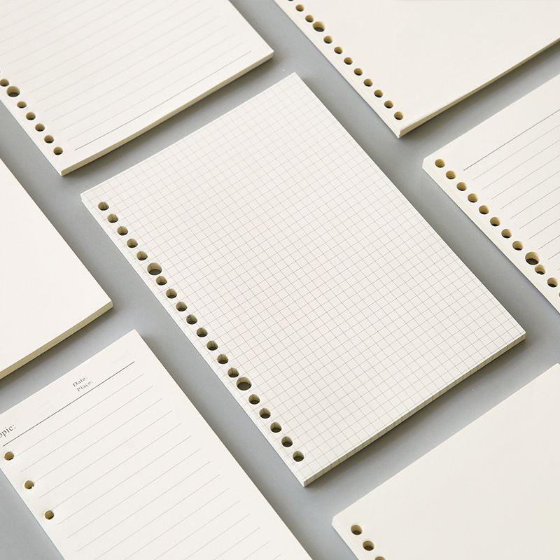 Notepads A5 20 Delik B5 26 Dizüstü Yedekler Kağıt Spiral Dergisi Planlayıcısı İç Sayfalar Noktalı Izgara Boş Cornell PP Kapak