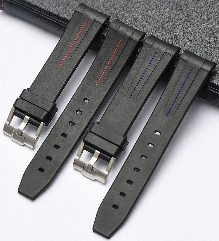 EACHE Yeni Silikon Kauçuk İzle Band İzle sapanlar Su geçirmez Watchband 20mm, 21mm 3aUT #