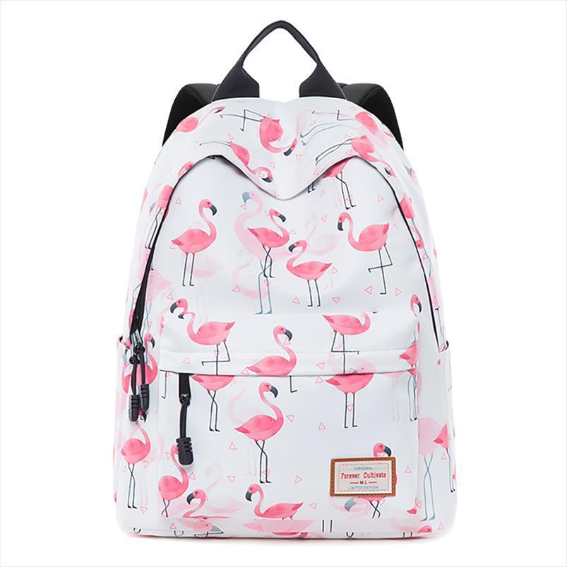 Flamingo mochila para adolescentes que Big Capacidade de viagem Bagpack duráveis Impresso Escola Bags College Student Bookbag Crianças