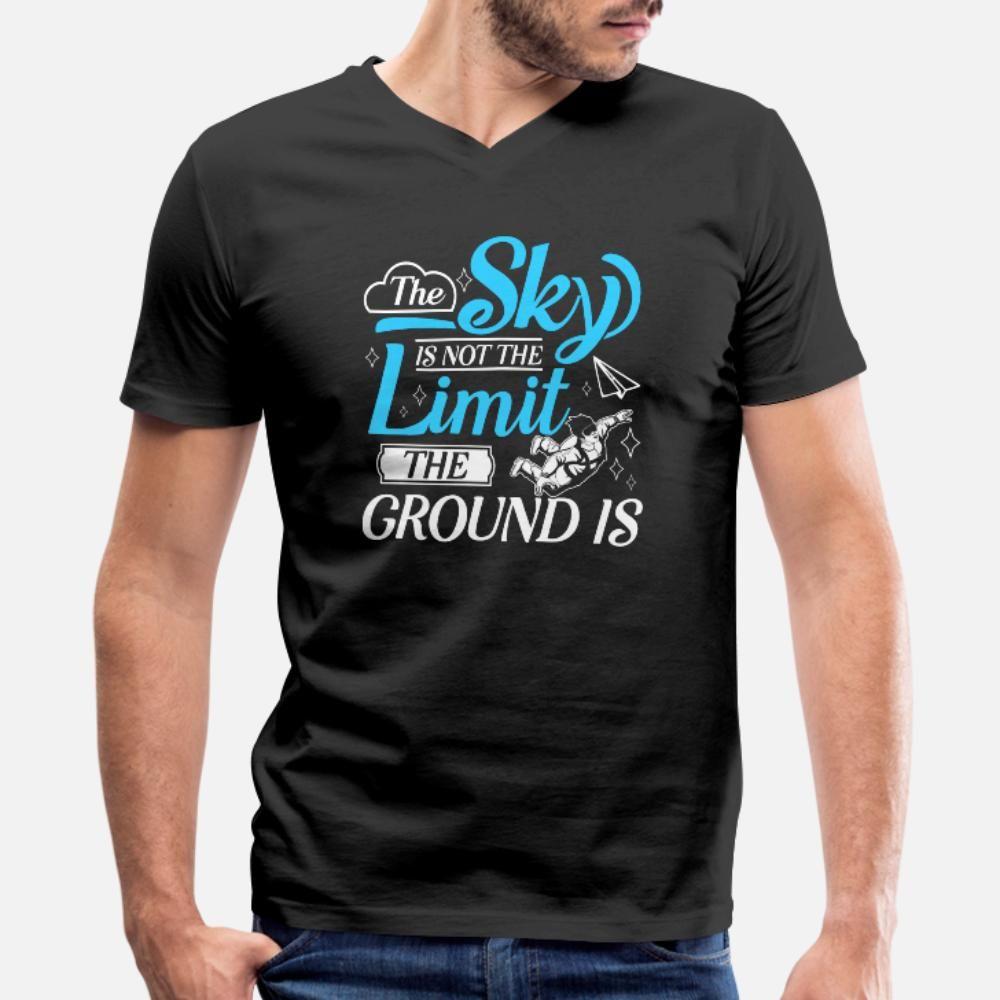 Skydiving Fallschirmspringen Fallschirm Jumper Skydiver T-Shirt Männer-Entwürfe Baumwolle Rundkragen Kawaii Netter lustiger Sommer formales Hemd