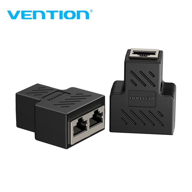 Venção RJ45 Splitter conector do adaptador de 1 a 2 Ethernet Cable maneiras Ethernet Splitter Coupler Contactar Modular plug Ligue Laptop