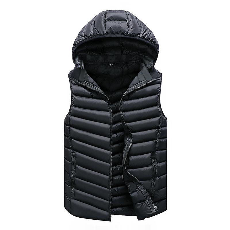 Giacca inverno caldo degli uomini di Solid maglia degli uomini Capispalla Gilet Vest casuale per il rivestimento degli uomini con cappuccio senza maniche Uomini Vest dell'uomo CX200810