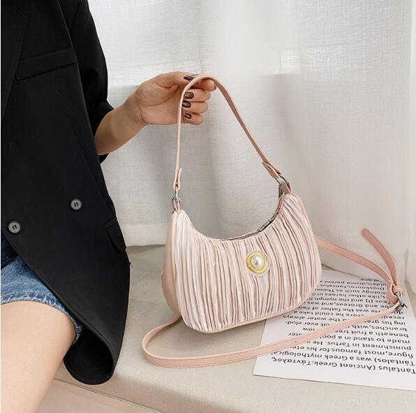 Donne Bag Lady ascellare Pieghe Moda Borse a tracolla Borse Baguette Bag Piccolo Estate