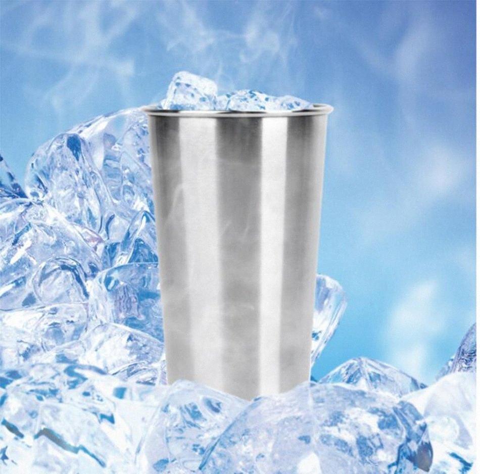 Edelstahl Beer Cup Tasse 500ml Wasser Cup Getränke Cup Kitchen Bar Werkzeuge Outdoor Camping Tassen OOA4667 WKuZ #