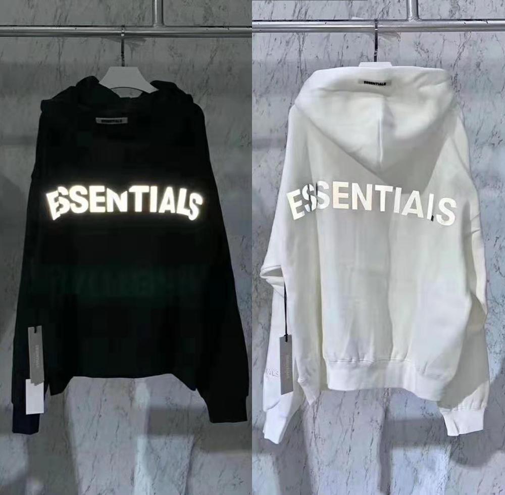2020 Últimas topo Hip Hop FOG Essentials Season 6 3M reflexiva Pullover Hoodies Hip Hop Oversize Homens Mulheres Moda capuz MX200813
