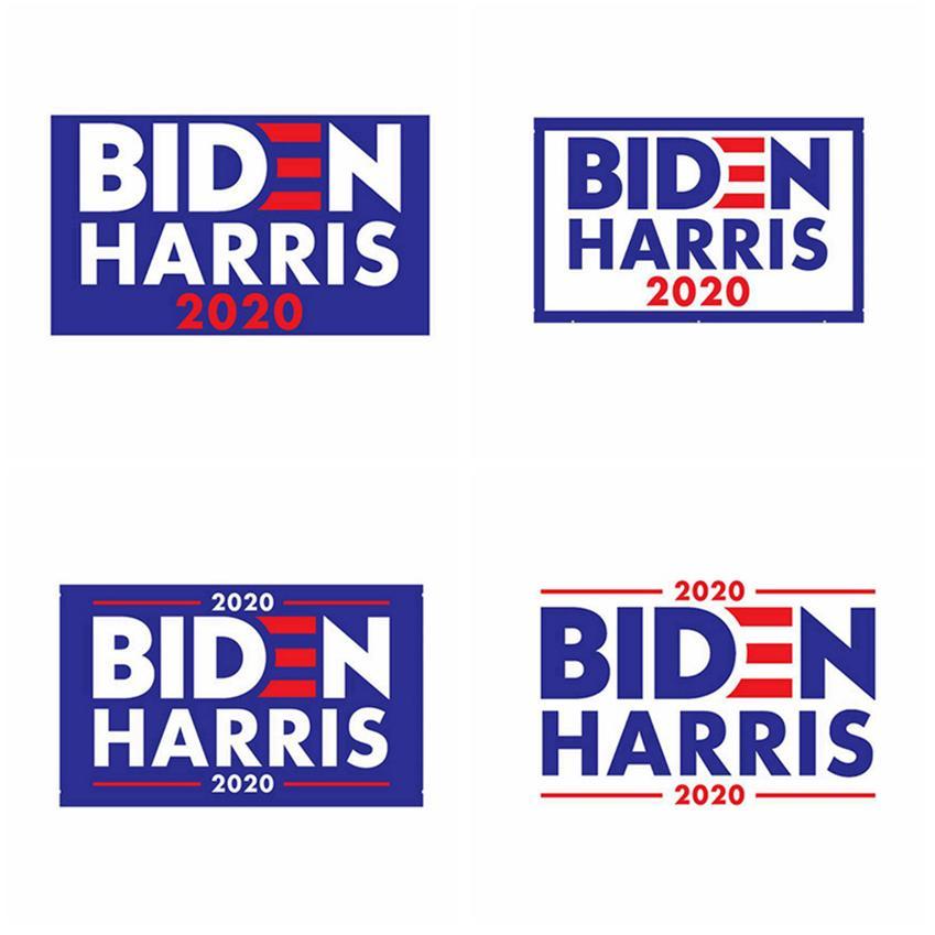 Joe Biden Harris 2020 Drapeau 2020 Président américain Etats-Unis Parti Banner Flag 90 * 150cm Trump Drapeau Biden élection CYZ2695 150pcs