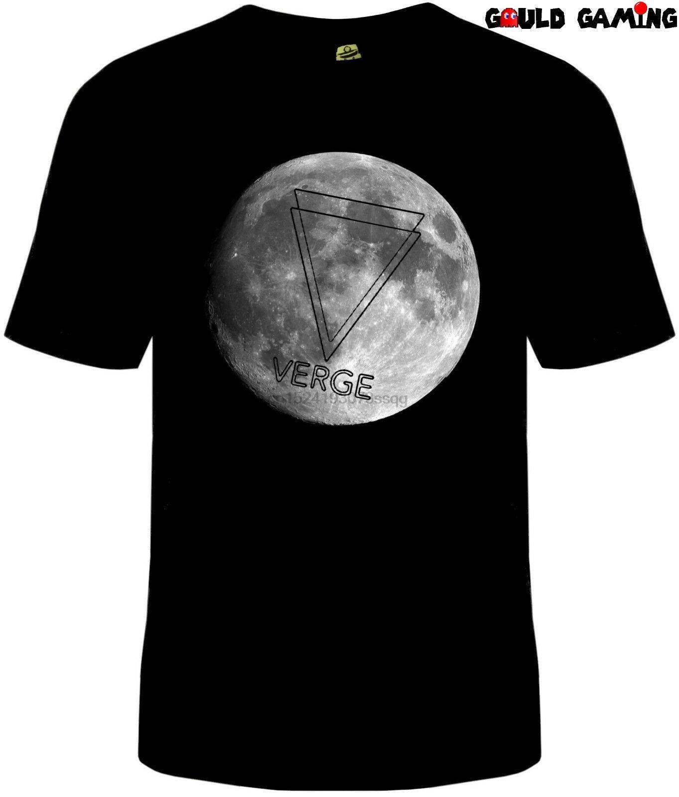 Verge à la lune T-shirt unisexe en coton Tailles adultes Bitcoin Ethereum Crypto