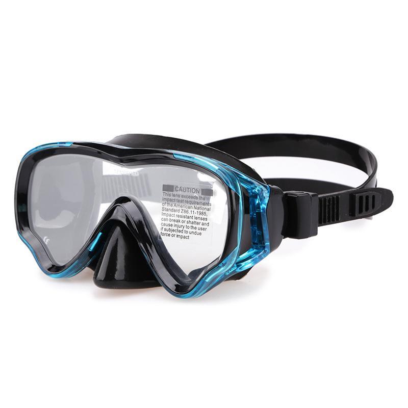 Les masques de plongée pour enfants sont scellés en silicone et étanche avec une seule lentille