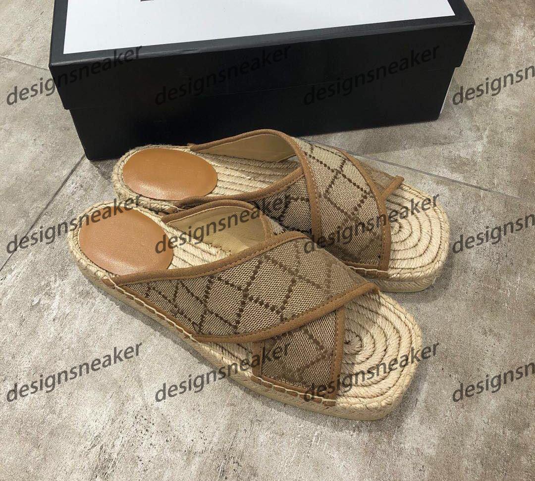 2020 donne superiori Mens Casual Pantofole Sliders spiaggia di estate pigro paglia Infradito Scarpe Verde Red Stripe Mens Sliders Pantofole