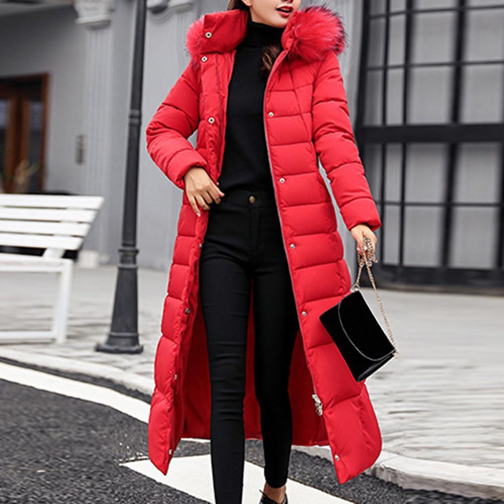 JODIMITTY 2020 New Style Trendy-Mantel-Frauen Winterjacke Baumwolle gefütterte Warm Maxi Puffer Coat Lady Lange Mäntel Parka Femme Jacket T200831