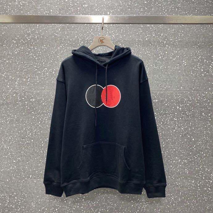 hoodie des femmes 2020 automne et hiver nouveau double noir et rouge cercle lettres imprimées hommes et les femmes perdent la taille du chandail à capuchon casual M-2XL