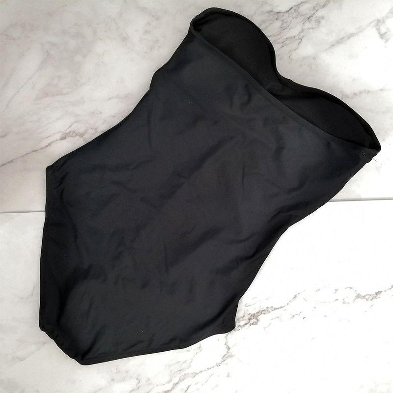 SAGACE الصلبة العصابة 2019 قطعة واحدة ملابس السباحة أنثى ملابس النساء القوس الاستحمام ملابس الشاطئ معطلة الكتف دعوى سباحة 5XL
