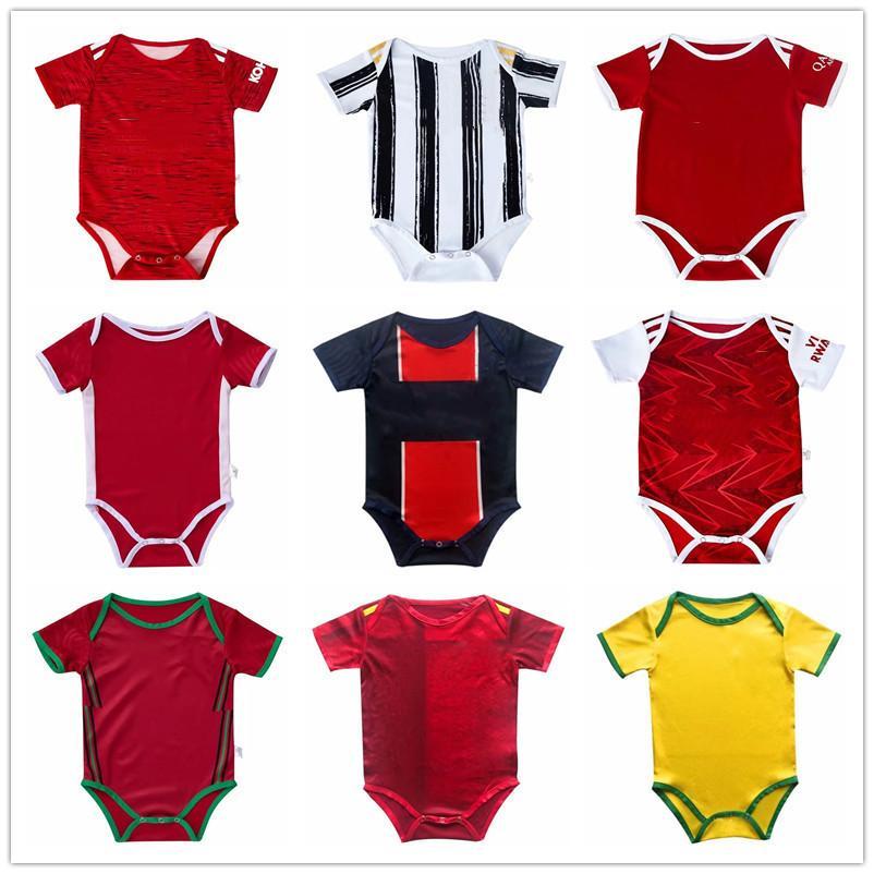 Bebek Futbol Forması Adam 2020 21 Utd Bambin 6-18 Ay Top Bebek Kadro Bodysuit 20 21 Gerçek Madrid Sürünen Elbise Futbol