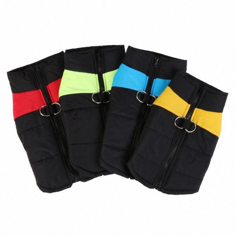 Winter warme Haustier-Hundeweste Kleidung Waren wasserdichte Reißverschluss-Mantel-Jacke für kleine Hunde Welpen-Katze-Raincoat Ropa Para Perros S-4XL sJCM #