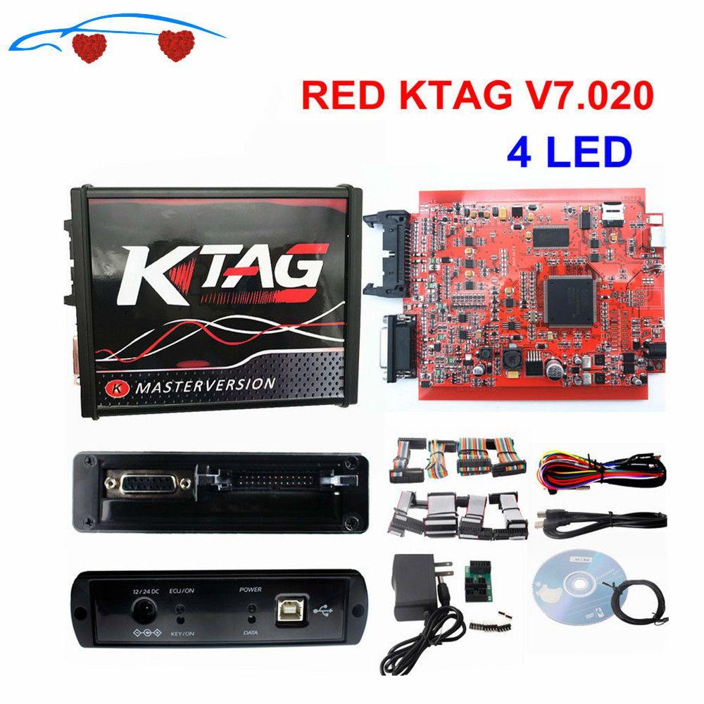 2020 RED KTAG V7.020 OBD2 Tuning Directeur Pas Tokens en ligne Utilisez K TAG 7,020 pour voiture / camion / tracteur K TAG ECU Chip Tuning outil