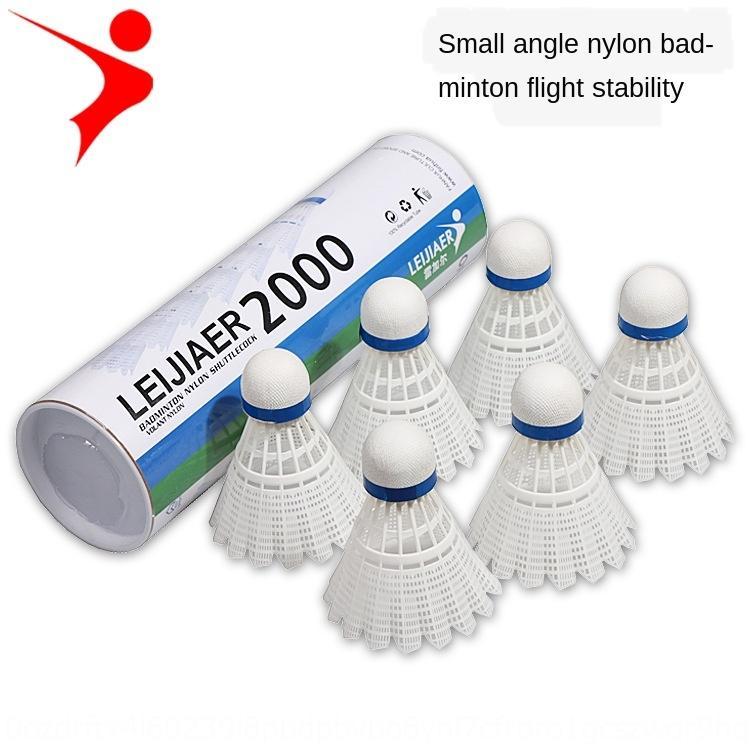nylon Jiaer 2000 pallina angolo Lei lana badminton 6-barile sfera in nylon resistente gioco di formazione interna ed esterna R0YMg