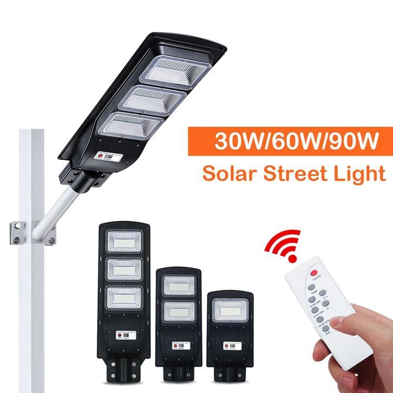 Edison2011 30W 60W 90W светодиодный солнечный уличный световой радиолокационный датчик открытый водонепроницаемый солнечная безопасность садовая лампа света датчик света умный свет