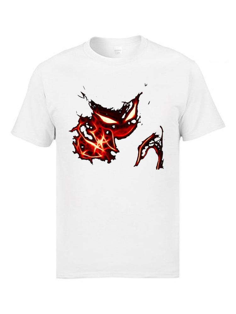 Haunter Demônio Top T-shirts de manga curta Moda O Neck Algodão Tops Camiseta T-shirt clássicos para homens Verão Queda de Natal