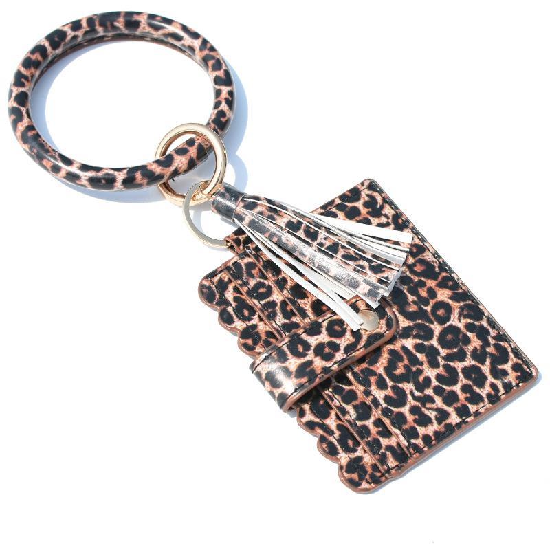 Bilezik Çanta Anahtarlık Kadınlar Püsküller Bilezikler PU Deri Wrap Anahtarlık Bileklik Wristlets Sikke Çantalar Kart Sahibi Bag 100pcs GGA3634
