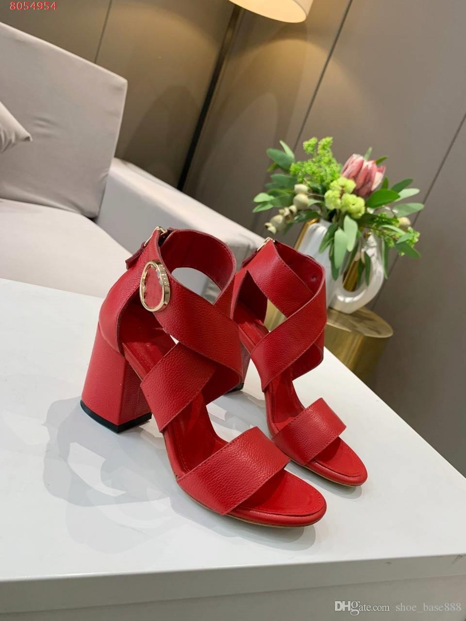 Scarpe col tacco alto delle donne di cuoio stazione europea Insider stella con lo stesso Passerella Scarpe HORIZON sandalo dal design di lusso Sho