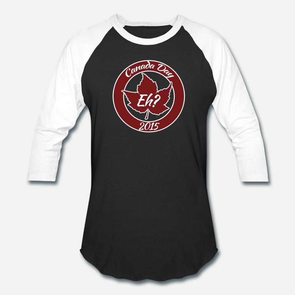 Día de Canadá 2015 hombres de la camiseta de impresión de algodón cuello redondo enfriar la camisa antiarrugas básicos Spring letras
